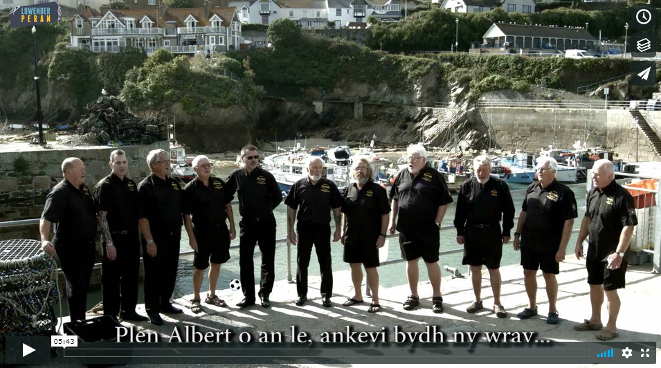 Newquay harbour singing